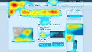 Hoe schrijf je goede webteksten - heatmap