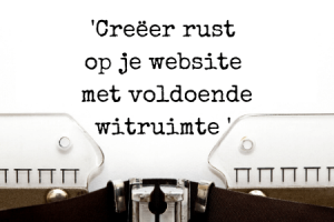 Vergroot usability website - rust
