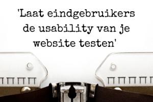 Vergroot usability website - testen